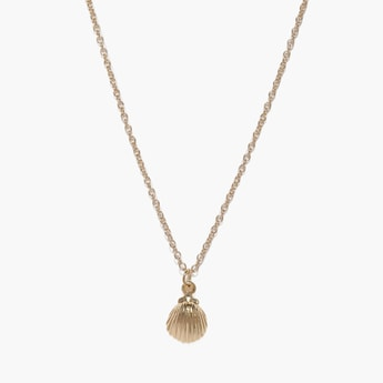TONIQ Solid Necklace with Shell Pendant