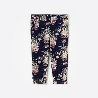 PEPPERMINT Floral Print Casual Trousers