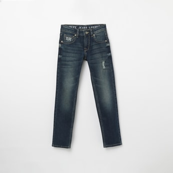 PEPE JEANS Stonewashed Lightly Distressed Slim Fit Jeans