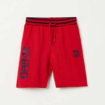 FC BARCELONA Printed Casual Shorts