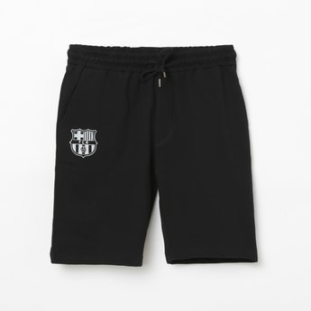 FC BARCELONA Solid Elasticated Shorts