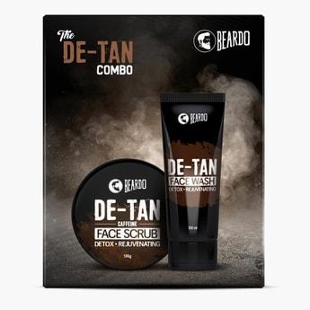 BEARDO De-Tan Face Wash And De-Tan Face Scrub Combo Gift Box