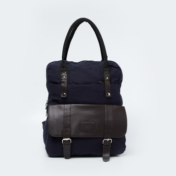 FAME FOREVER Panelled Backpack with Rolled Handles