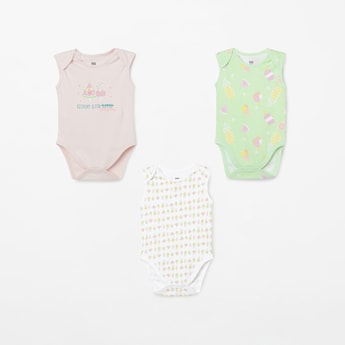 FS MINI KLUB Printed Rompers - Pack of 3