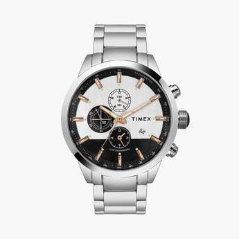 TIMEX Men Chronograph Watch with Metal Strap - TWEG19400