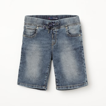 PEPE JEANS Mid-Washed Denim Shorts