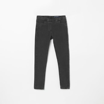 ALLEN SOLLY Solid Skinny Fit Jeggings