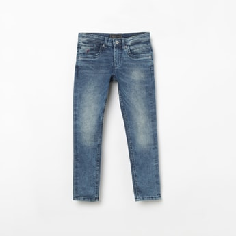 INDIAN TERRAIN Stonewashed Regular Fit Jeans