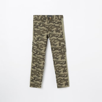 INDIAN TERRAIN Camouflage Print Casual Trousers