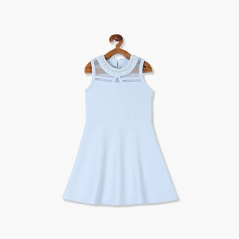 THE CHILDREN'S PLACE Girls A-line Sleeves with Embellished Neck