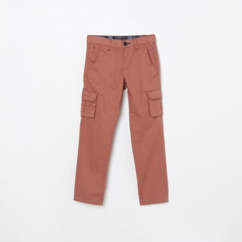 INDIAN TERRAIN Solid Regular Fit Trousers