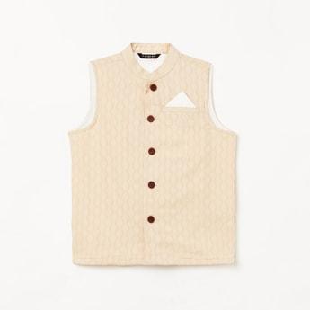 MELANGE Boys Printed Waistcoat