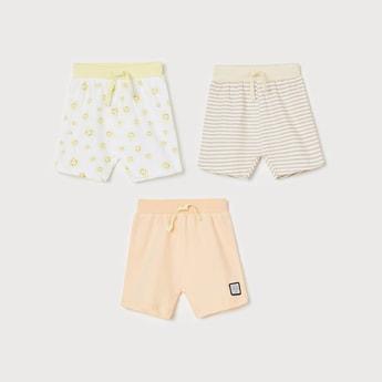 FS MINI KLUB Boys Printed Elasticated Shorts - Set of 3 Pcs