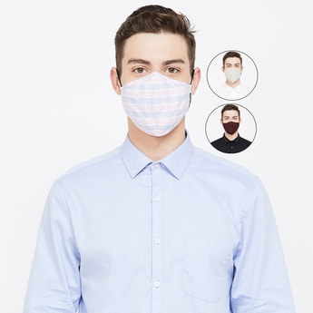 VAN HEUSEN Men Reusable Assorted Anti-Bacterial Masks - Pack of 3 Pcs.