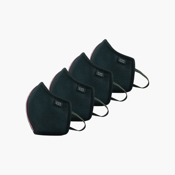 TOMMY HILFIGER Unisex 4-Layered Textured Face Mask - Pack of 4