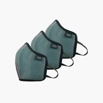 TOMMY HILFIGER Unisex Textured Face Mask - Pack of 3