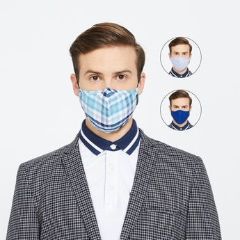 VAN HEUSEN Men Assorted Anti-Microbial Reusable Face Mask - Set of 3