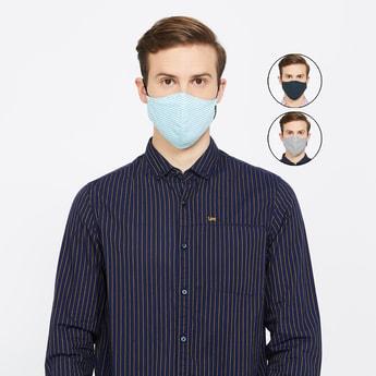 VAN HEUSEN Men Assorted Anti-Microbial Reusable Face Mask - Set of 3