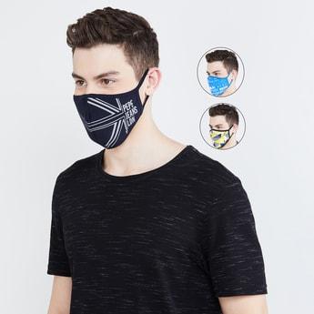 PEPE JEANS Men Printed Anti-Viral Reusable Masks - Pack of 3 Pcs.