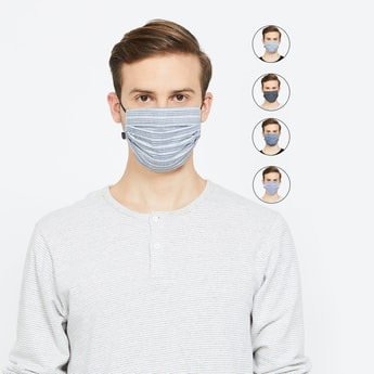 T-BASE Men Assorted Face Mask- Pack of 5