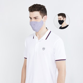 CODE Men Printed 3-Layered Reusable Anti-Microbial Masks - Pack of 2