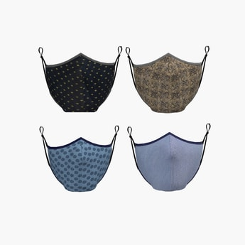 ALLEN SOLLY Women Printed Reusable Face Mask- Pack of 4