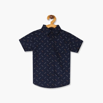 THE CHILDREN'S PLACE Boys Printed Short Sleeves Casual Shirt