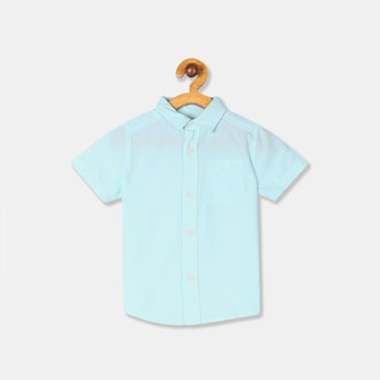 THE CHILDREN'S PLACE Boys Solid Short Sleeves Casual Shirt