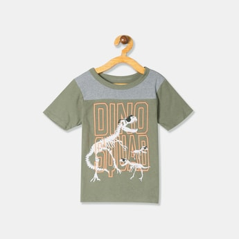THE CHILDREN'S PLACE Boys Crew Neck T-shirt with Chest Print