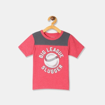 THE CHILDREN'S PLACE Boys Typographic Print Short Sleeves T-shirt