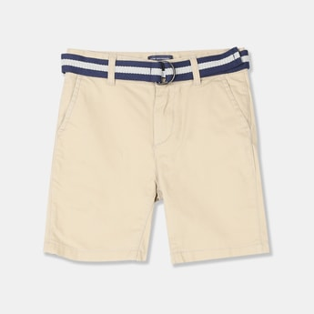 THE CHILDREN'S PLACE Boys Solid Regular Fit City Shorts with Belt