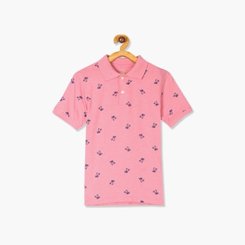 THE CHILDREN'S PLACE Boys Printed Short Sleeves Polo T-shirt