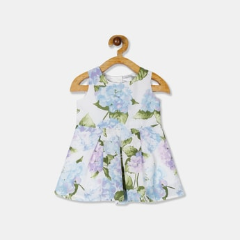 THE CHILDREN'S PLACE Girls Floral Print Pleated Skater Dress