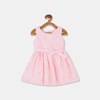 THE CHILDREN'S PLACE Girls Lace-Overlay Fit-and-Flare Dress