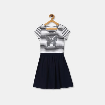 THE CHILDREN PLACE Sequinned Cap Sleeves  A-line Dress