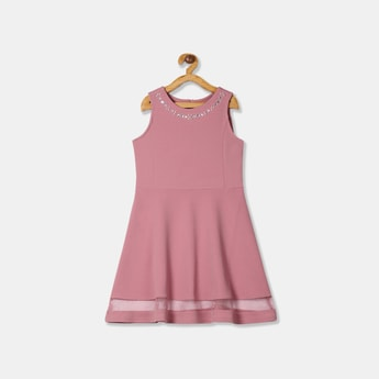 THE CHILDREN'S PLACE Girls Embellished A-line Dress with Panelled Hem