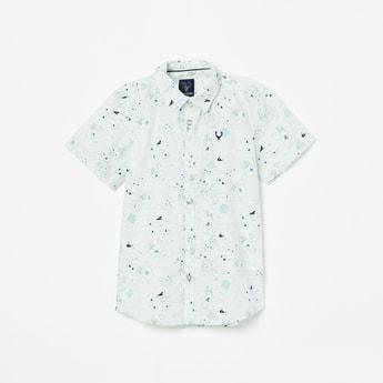 ALLEN SOLLY Boys Printed Short Sleeves Casual Shirt