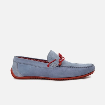 V8 by RUOSH Men Suede Loafers with Tie-Up
