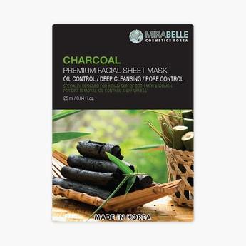 MIRABELLE Korea Premium Facial Sheet Mask- Charcoal