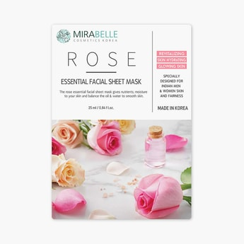 MIRABELLE Korea Essential Facial Sheet Mask- Rose