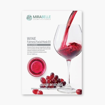 MIRABELLE Korea Wine Fairness Facial Sheet Mask