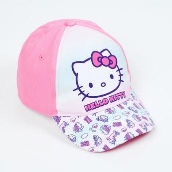 KIDSVILLE Girls Hello Kitty Print Colourblock Baseball Cap