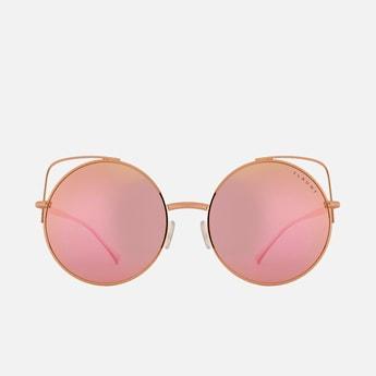 FEMINA FLAUNT Women Mirrored Polarised Round Sunglasses - 9018-C1