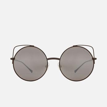 FEMINA FLAUNT Women Mirrored Polarised Round Sunglasses - 9018-C3