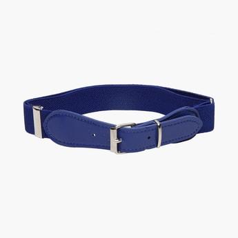 STOLN Girls Solid Elasticated Belt
