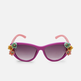 STOLN Girls Floral Applique Sunglasses
