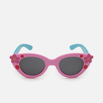 STOLN Girls Floral Pattern Cat-Eye Sunglasses- LM042-A