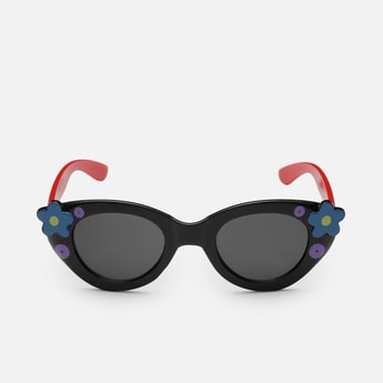 STOLN Girls Floral Pattern Cat-Eye Sunglasses- LM042-B