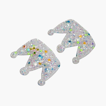 STOLN Girls Sequinned Crown Accent Alligator Clips - Set of 2