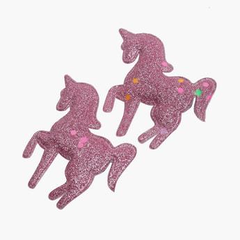 STOLN Girls Sequinned Unicorn Accent Alligator Clips - Set of 2